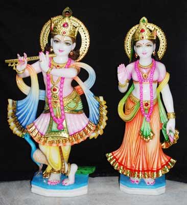 Marble Radha-Krishna Statue